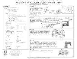 Ikea Futon Chair Instructions by Metal Futon Frame Assembly Interior Design