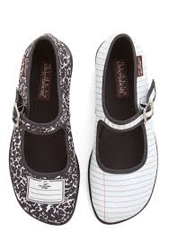 shoes of note flat low novelty print scholastic collegiate