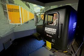 Have You Ever Used A Trucking Simulator Before? The One At Schneider ... Schneider Truck Driving Schools Wa State Licensed Trucking School Cdl Traing Program Burlington Phone Number Square D By Pdf Beyond The Crime National Green Bay Best Resource Academy Wi Programs Ontario Opening Hours 1005 Richmond St Prime Trucking Job Bojeremyeatonco Events Archives Progressive Schneiders New Trailers Black And Harleydavidson Companies Welcome To United States