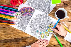 Adult Coloring Book For Article On Books Seniors