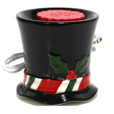 Aurora Candle Warmer Lamp by Yankee Candle Snowman Top Hat Christmas Electric Tart Burner