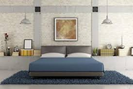 Navy Blue Gray And Off White Produce A Tranquil Bedroom Atmosphere