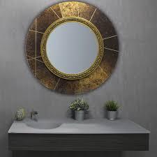 wandmontierter spiegel für badezimmer majestic biselarte