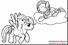 Great My Little Pony Friendship Is Magic Coloring Pages With Fluttershy And