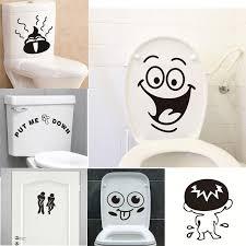 großhandel lustige lächeln badezimmer wandaufkleber wc dekoration wasserdichte wandtattoos für wc aufkleber dekorative poster wohnkultur d19011702