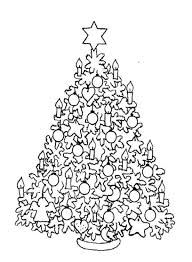 Hard Christmas Tree Coloring Pages