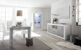 esszimmer leonello mit vitrine weiß beton optik