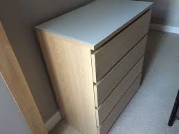 Ikea Aneboda Dresser Instructions by Ikea Malm Chest Of 4 Drawers With Malm Glass Top In Urmston