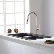 Kitchen Sink Film 2015 by Kraus Kgd 433b 33 1 2 Inch Dual Mount 50 50 Double Bowl Black Onyx