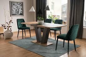 details zu holz esstisch braun esszimmer tisch küchentisch eichenholz modern luxus