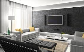 Tufted Ottoman And Sofa With Coffee Table Also Tv Wall Unit Accent Walls For Living