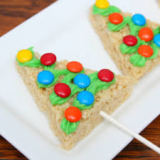 Rice Krispie Christmas Tree Pops by Christmas Rice Krispie Treats