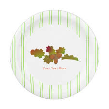 From Little Acorns Rustic Autumn Fall Paper Plate