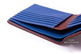 luxury men u0027s leather wallet in whisky patina brown boxcalf u0026 blue