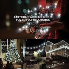 Best Type Of Christmas Tree Lights by 200 Led Solar String Lights Litom Outdoor Solar Decor Powered