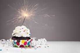 Download Birthday Sparkler Cupcake stock photo Image of cupcake