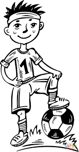 Young Boy Soccer Player Coloring Page
