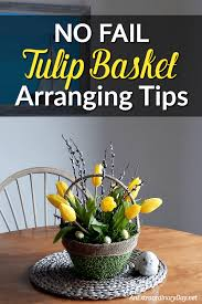 How To Make A Stunning Tulip Arrangement In Basket