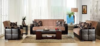 Istikbal Fantasy Sofa Bed by Ekol Yuky Convertible Sofa In Brown Fabric Leather By Sunset