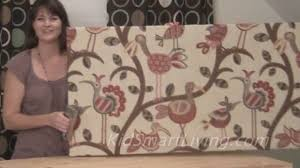 How To Make Fabric Wall Art Panels Home Decorating DIY Project