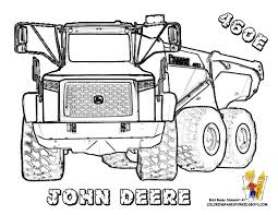 John Deere 460 E Truck Picture To Color At YesColoring