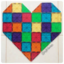 Picasso Tiles Magnetic Building Blocks by Say It With Heart Magnatiles Magna Tiles Creations
