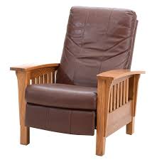 Charles Stickley Rocking Chair by Barcalounger Leather Recliner