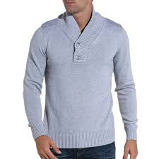 pull pull homme gris clair col montant blzjeans