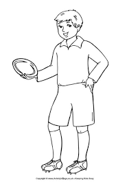 Rugby Boy Colouring Page