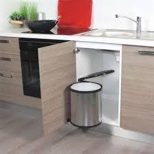 poubelle cuisine pivotante poubelle de cuisine ronde encastrable alysta 14 litres