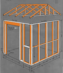 8 8 gable storage shed plans blueprints for creating a garden shed