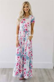 purple pink cloud floral maxi modest dress best and affordable