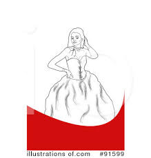 Royalty Free RF Prom Dress Clipart Illustration by Arena Creative Stock Sample