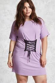 plus size corset t shirt dress forever 21 plus 2000094532
