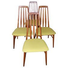 Set Of Four Tall Back Danish Modern Dining Room Chairs For Sale