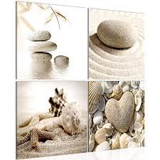 bilder strand steine 4 teilig bild auf vlies leinwand deko