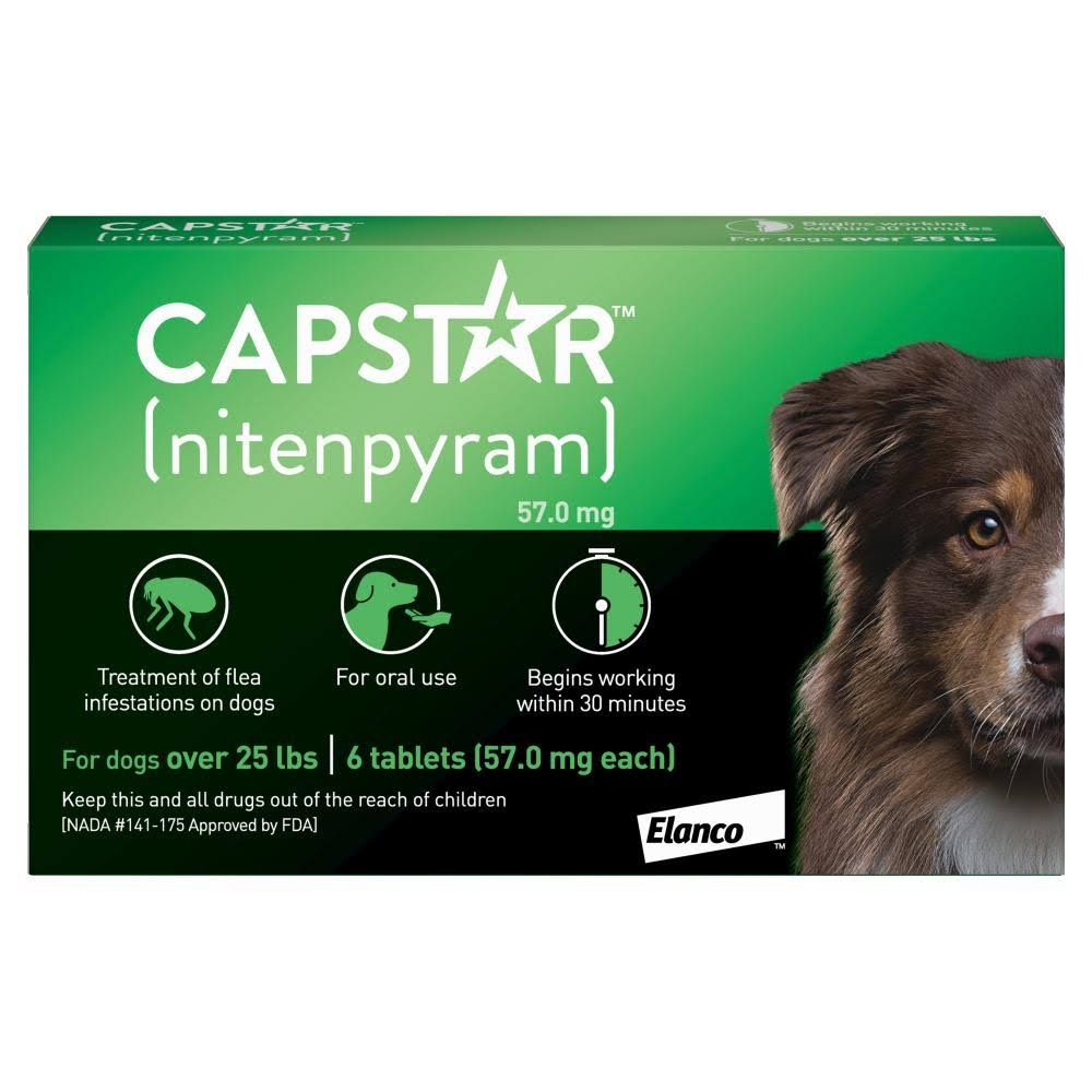 Novartis Capstar Flea Tablets for Dogs and Cats - 6 Tablets