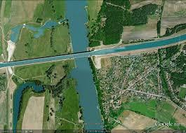 100 Magdeburg Water Bridge Just Another Satellite Image