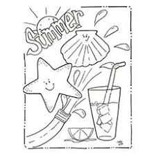 Summer Themed Coloring Pages Summer Coloring Pages Drink