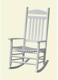 Patio Rocking Chair Contoured Seat Slatted Back Weather Resistant ...
