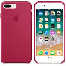iPhone 8 Plus 7 Plus Silicone Case Rose Red Apple