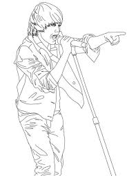 Coloring Page Justin Bieber Celebrities 29