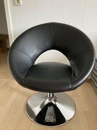 schalenstuhl drehstuhl leder schwarz runder stuhl
