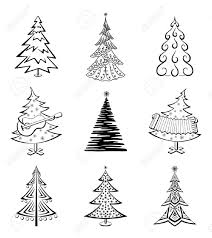 Christmas Trees Types by Christmas Graphic Set Of Christmas Trees Vector Graphic Free
