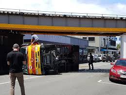 100 Truck Crashes Caught On Tape Rubbish Truck Crash Closes Inner City Street In Whangrei NZ Herald