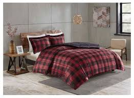 Red And Black Buffalo Plaid Comforter Set Rustic Home Decor Cabin Bedroom
