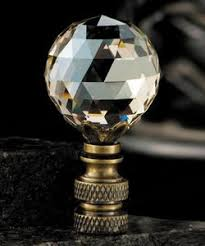 Crystal Glass Lamp Finials by Crystal Finials And Charms Stunning Toppers For Your Lamp At