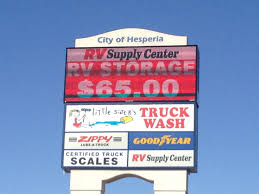 RV Storage » RV Supply Center :: Hesperia, CA