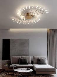 minimalistischen luxus designer led deckenleuchte moderne warme glas leuchten wohnzimmer dekoration nacht schlafzimmer le studie