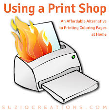 Using A Print Shop For Coloring Pages